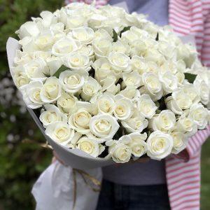 101 біла роза на весілля, день народження