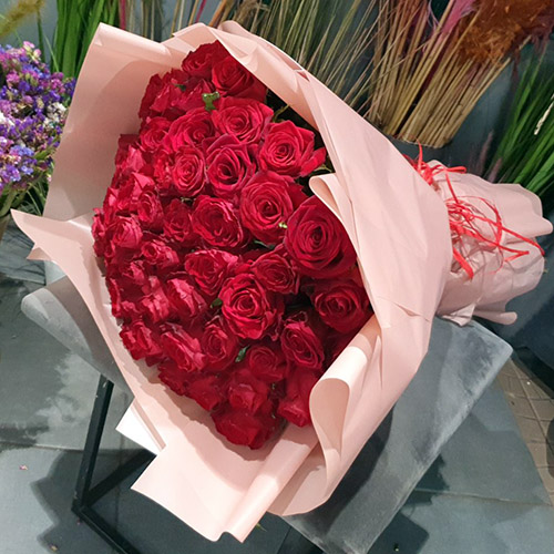 Фото товара 51 красная роза в Ужгороде
