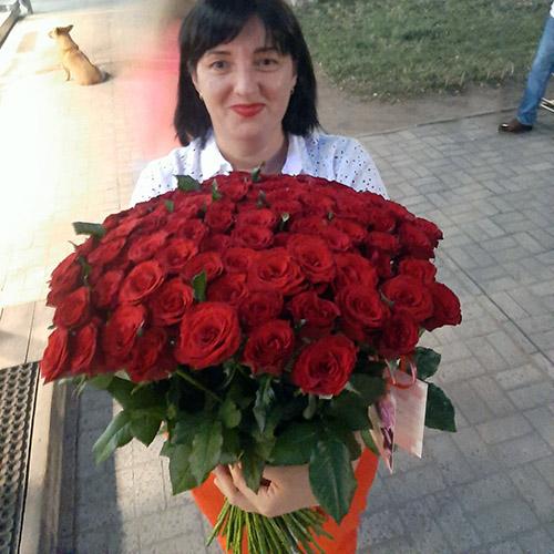 Фото товара 75 красных роз в Ужгороде