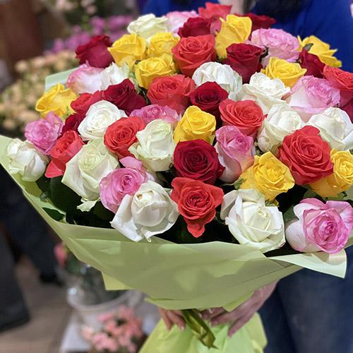 Фото товара 101 роза микс в Ужгороде