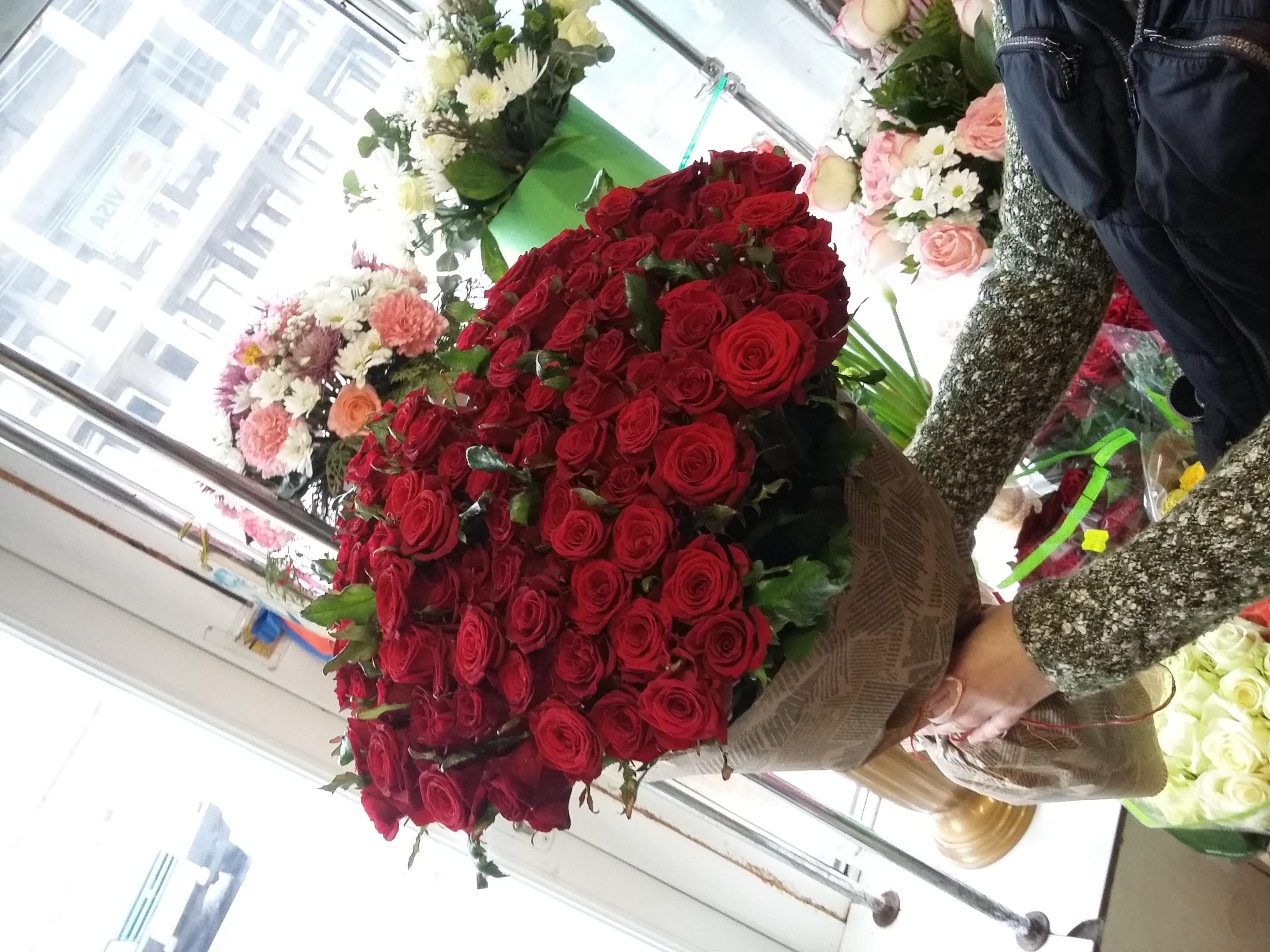 Фото товара 101 красная роза в Ужгороде