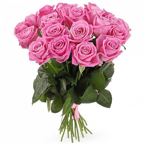"""букет 21 роза """"Аква"""" розовая"""