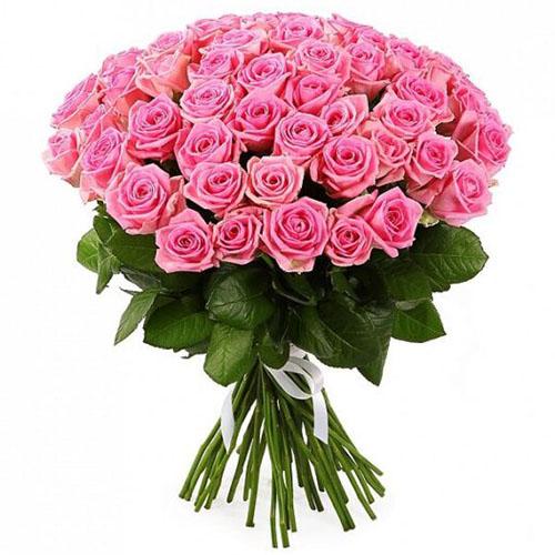"""букет 51 розовая роза """"Аква"""""""