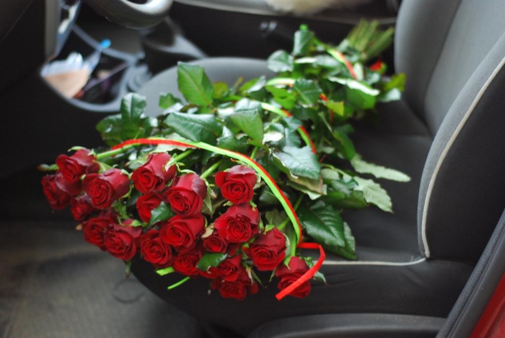 Фото товара 21 красная роза в Ужгороде