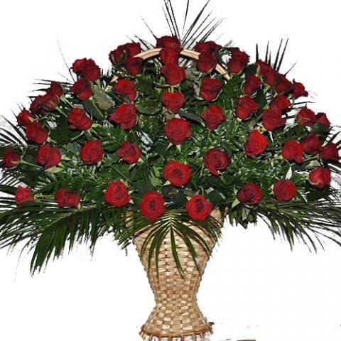 Живые похоронные цветы