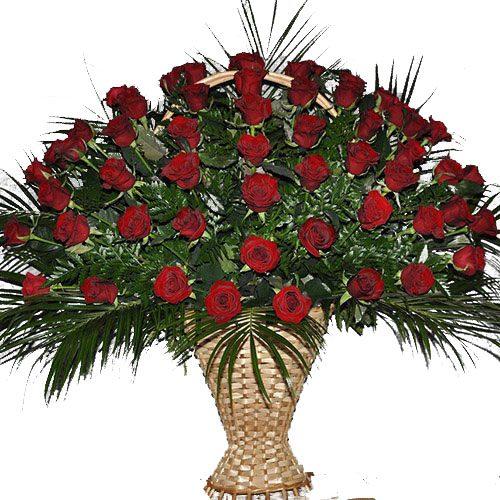 Живые похоронные цветы товар