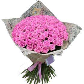 """букет 101 троянда """"Аква"""""""
