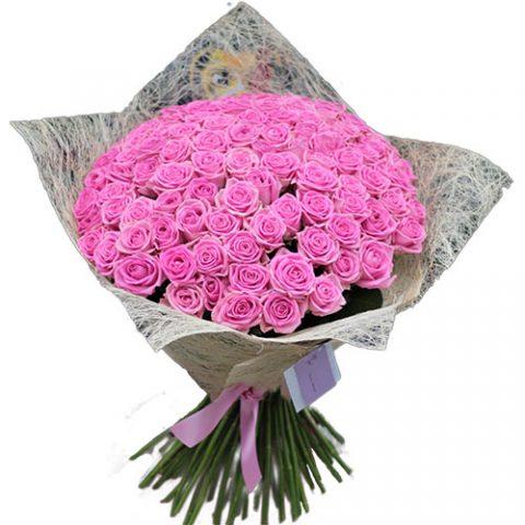 """101 троянда """"Аква"""""""