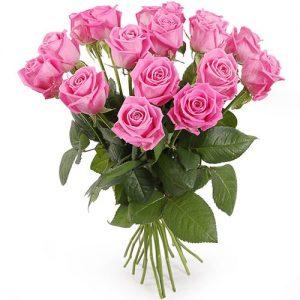 """букет 15 троянд """"Аква"""""""