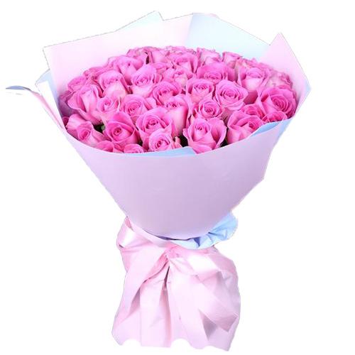"букет 35 рожевих троянд ""Аква"""
