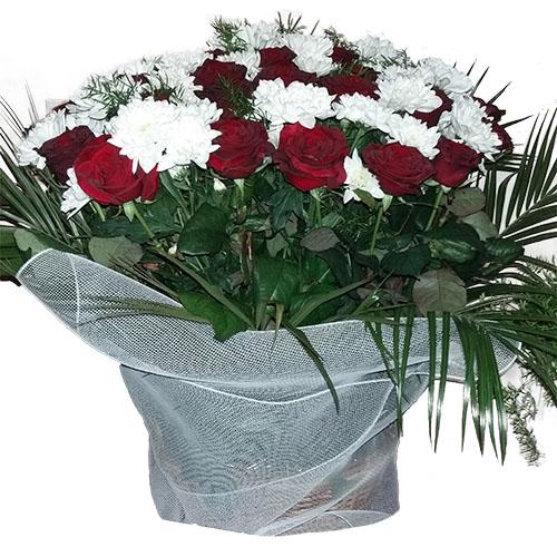 товар Цветы на похороны - корзина