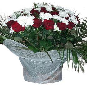 товар Квіти на похорон - кошик