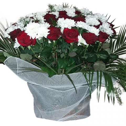 Квіти на похорон – кошик
