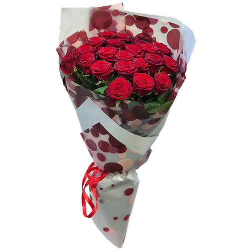 фото букета 21 червона троянда