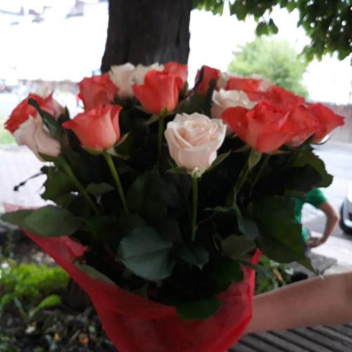 микс букет роз фото