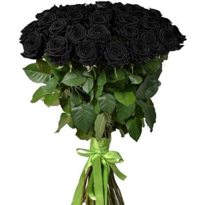 букет 101 чёрная роза фото