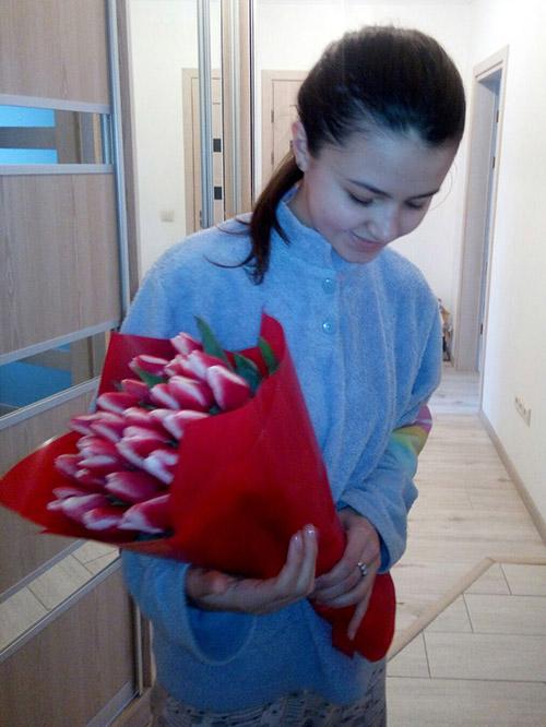 букет тюльпанів на день закоханих фото