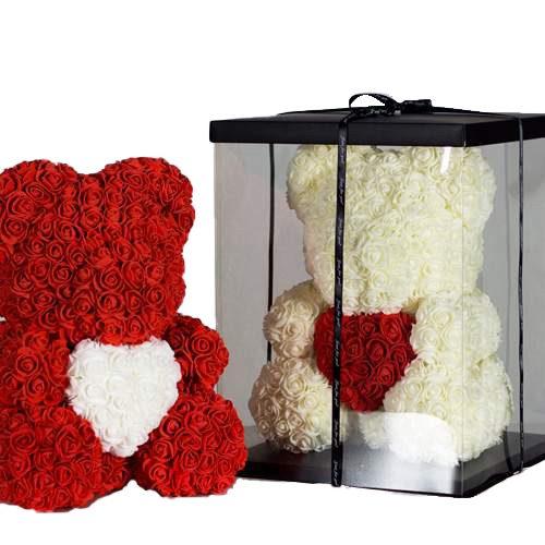 фото Ведмедик з троянд на замовлення