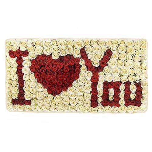Букет «Я кохаю тебе» 301 троянда фото букета