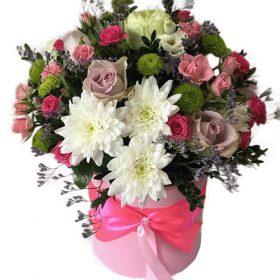 Коробка «Ніжність» мікс квітів
