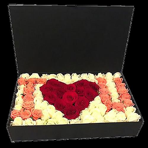 "Фото товара 101 роза в коробке ""I love you"" в Ужгороде"