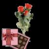 Фото товара 3 красные розы с конфетами в Ужгороде