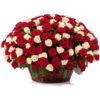 Фото товара 101 троянда мікс у кошику в Ужгороде