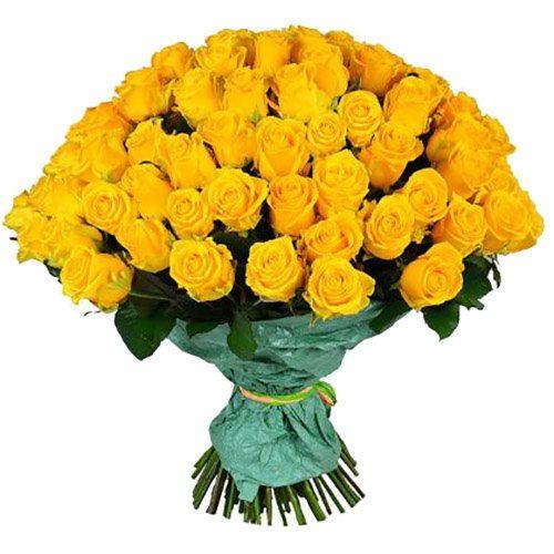 Фото товара 101 желтая роза в Ужгороде