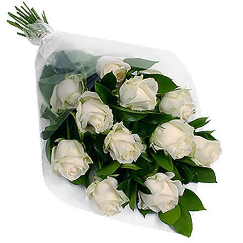 Фото товара 11 білих троянд в Ужгороде