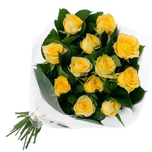 Фото товара 11 жовтих троянд в Ужгороде