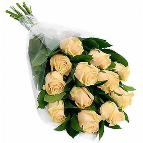 Фото товара 11 кремовых роз в Ужгороде