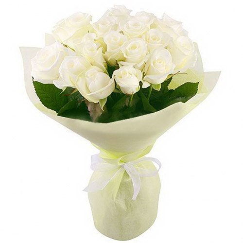 Фото товара 19 білих троянд в Ужгороде