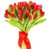 Фото товара 25 червоних тюльпанів в Ужгороде