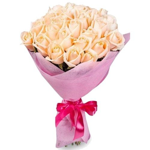 Фото товара 25 кремових троянд в Ужгороде
