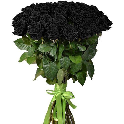 Фото товара 25 черных роз в Ужгороде