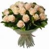 Фото товара 33 кремовые розы в Ужгороде