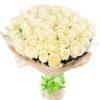 Фото товара 51 біла троянда в Ужгороде