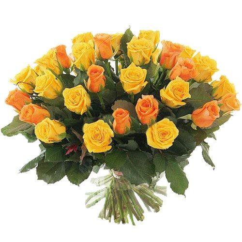 Фото товара 51 желтая и кремовая роза в Ужгороде