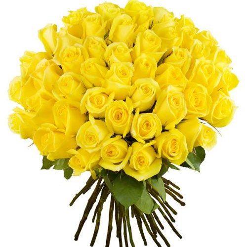 Фото товара 51 желтая роза в Ужгороде