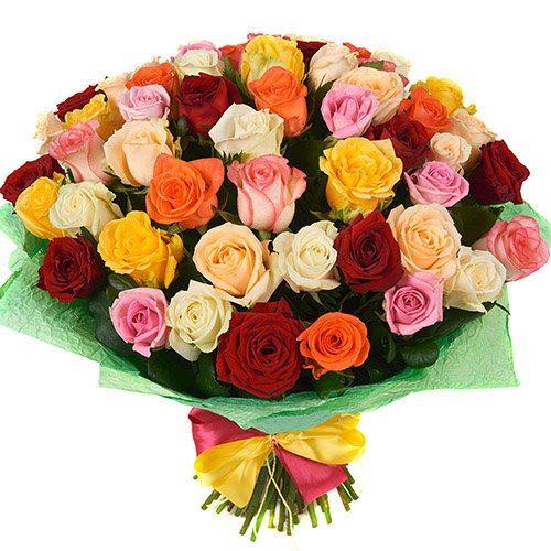 Фото товара 51 роза микс в Ужгороде