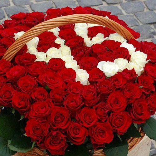 Фото товара 101 троянда з числами в кошику в Ужгороде