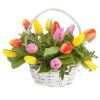 Фото товара 15 тюльпанів у кошику в Ужгороде