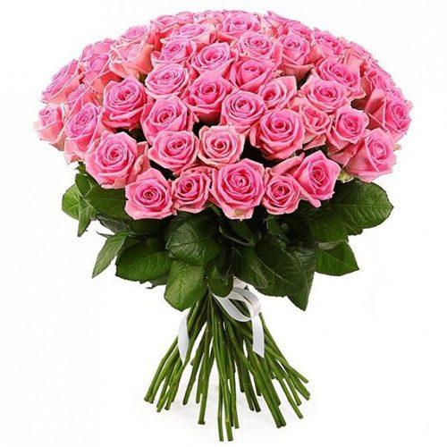 "букет 51 рожева троянда ""Вау"""