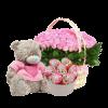 Для маленької троянди, солодощі та іграшка