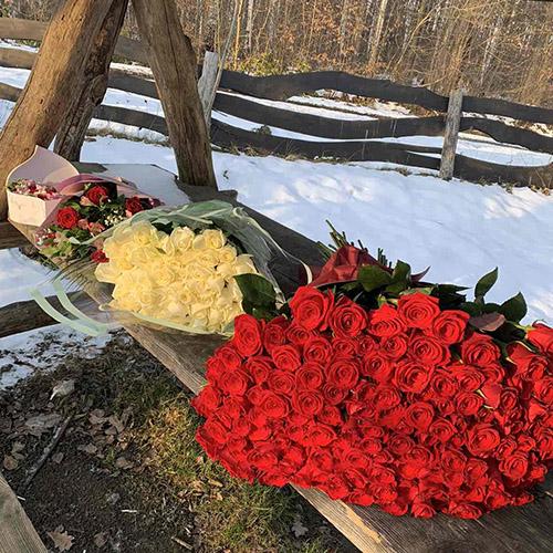 букети троянд фото