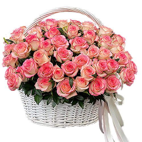"картинка 51 роза ""Джумилия"" в корзине"