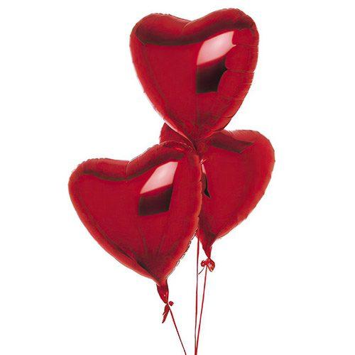 Фото товара 3 фольгированных шарика в форме сердца в Ужгороде