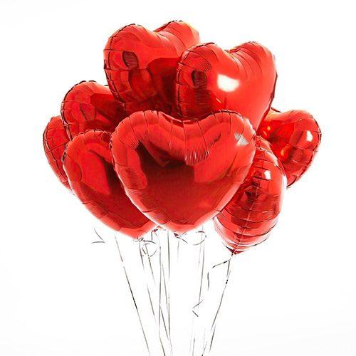 Фото товара Кульки фольговані у формі серця поштучно в Ужгороде