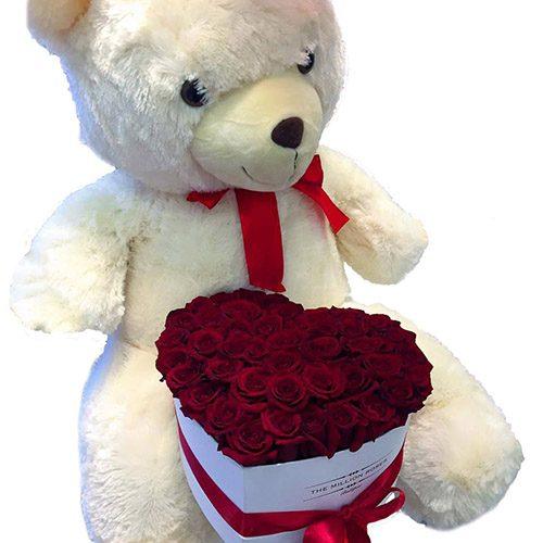 """Фото товара Серце """"Купідон"""" і білий ведмедик в Ужгороде"""