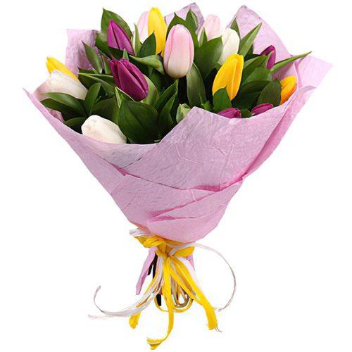 Фото товара 15 тюльпанов микс в Ужгороде